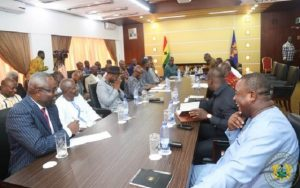 The-leaders-of-the-political-parties-at-the-meeting-with-the-President